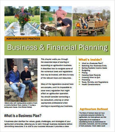 business financial plan template