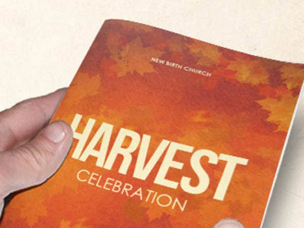 Harvest Celebration Church Bulletin Template