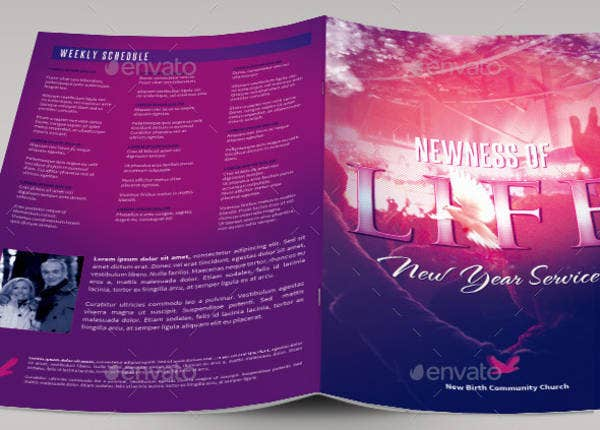 Church Bulletin Template Free PDF PSD Format Download - Church brochure templates