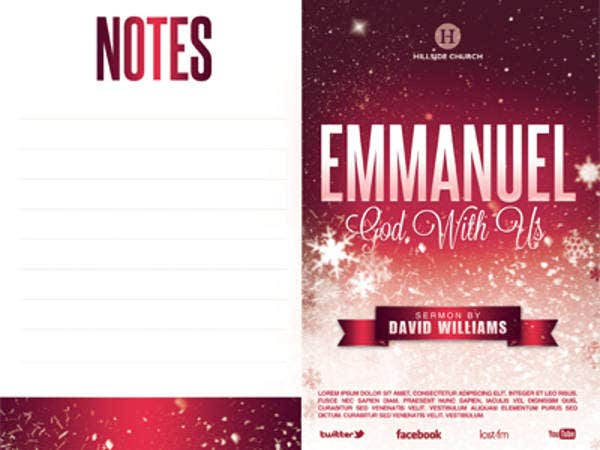 emmanuel church bulletin template
