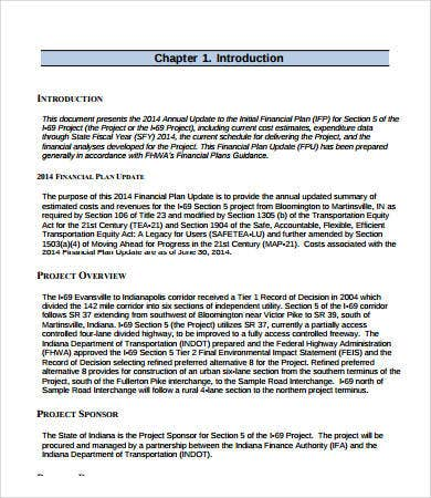 Financial Plan Template   Free Pdf Word Documents Download