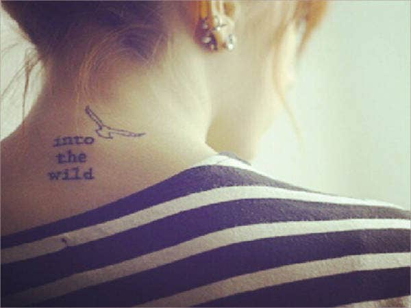 Small back Tattoo For Girls