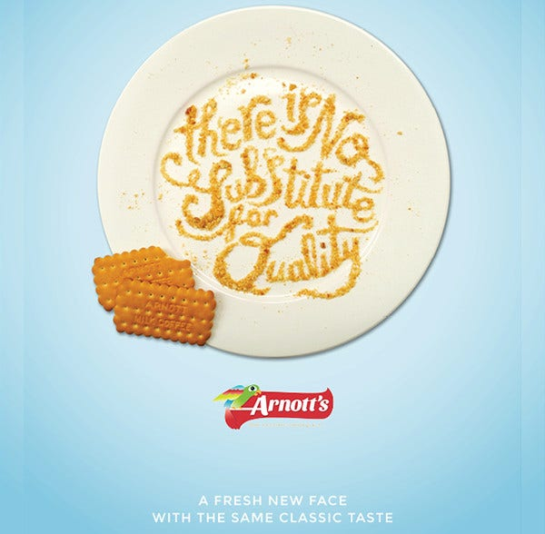 Typographic Advertising Design of Arnott's