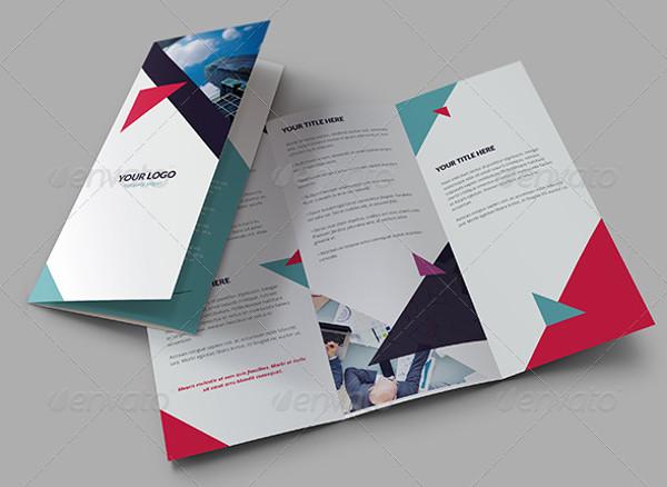 Violet Geometric Brochure Tri-Fold