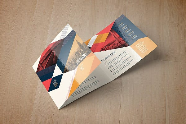 20 examples of geometric brochure designs free for Trifold brochure template indesign