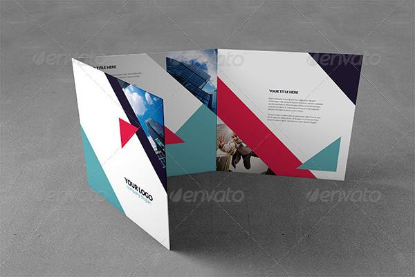 Tri-Fold Geometric Brochure Square