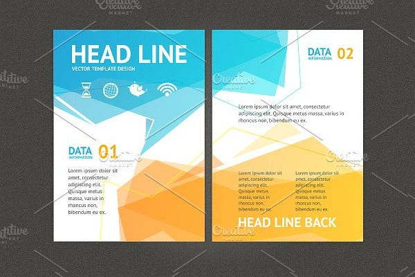 Examples Of Geometric Brochure Designs Free Premium Templates - Professional brochure templates free