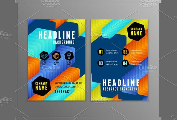 Colorful Arrows Geometric Brochure