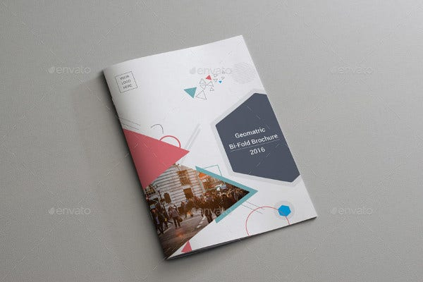 Bi-Fold Geometric Brochure