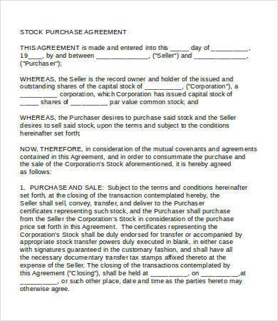 Purchase Agreement   Free Word Pdf Documents Download  Free
