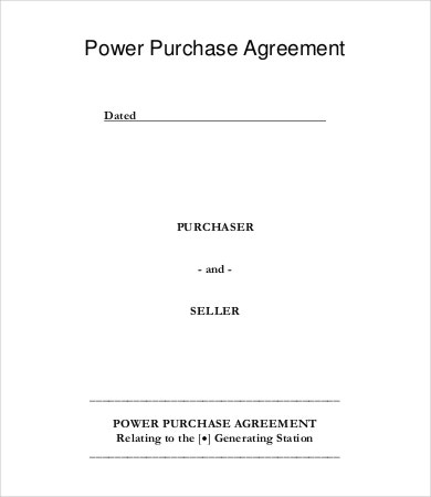 Purchase Agreement Free Word PDF Documents Download Free - Power purchase agreement template