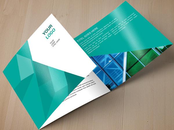 Free Geometric Pattern Trifold Brochure