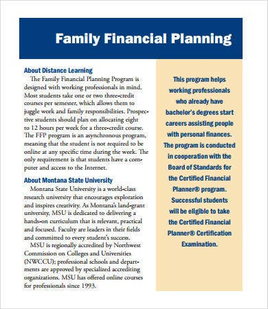 Financial Plan Template - 9+ Free Pdf, Word Documents Download
