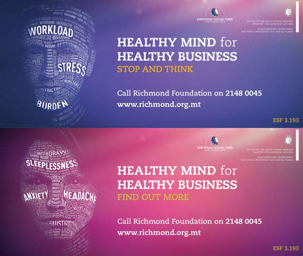 typographic advertising of health awareness campaign
