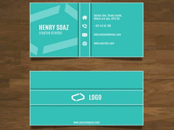 Free Simple Modern Business Card Design