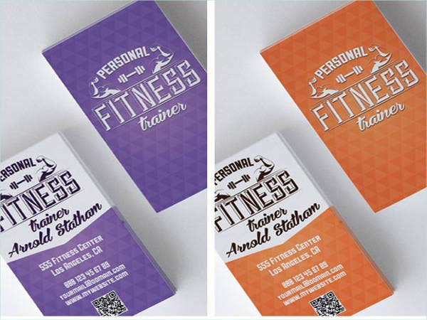 Free Personal Fitness Trainer Business Cards