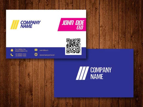 Free Bright Creative Business Card