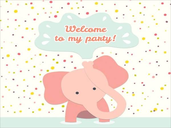 free animated elephant birthday card
