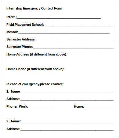 graphic relating to Printable Emergency Contact Form titled 11+ Crisis Get hold of Styles - PDF, Document Absolutely free High quality