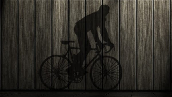 Shadow Photography of Bicycle
