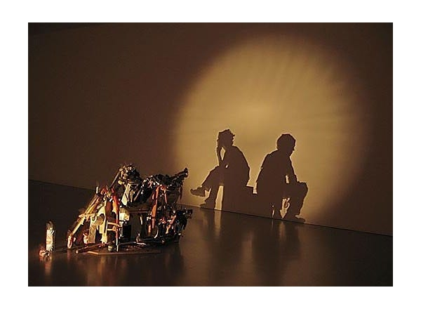 Shadow Art Created From Junk