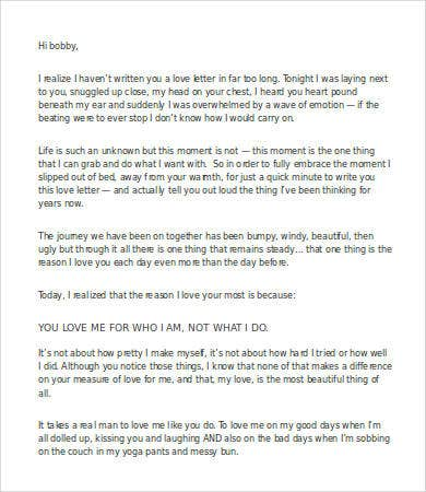 sweet love letter to husband