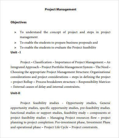 Project Management Templates   Free Pdf Documents Download