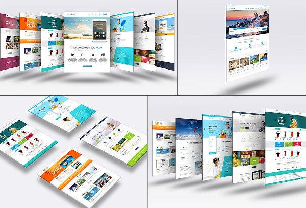 graphic design 3d website mock up