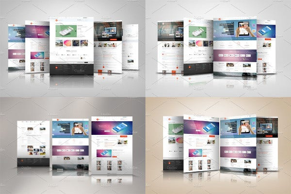 Display Web Presentation Mock Ups