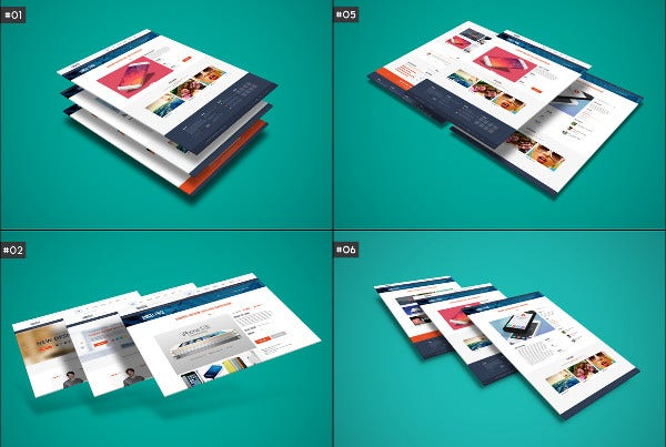 3d web presentation mockup