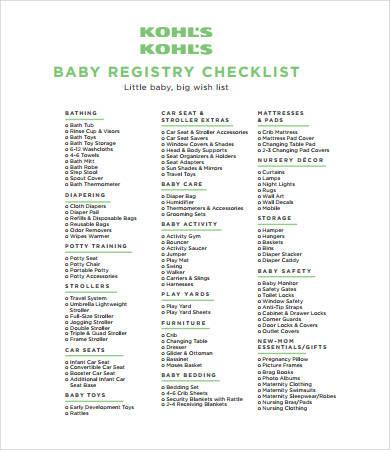 new baby registry checklist