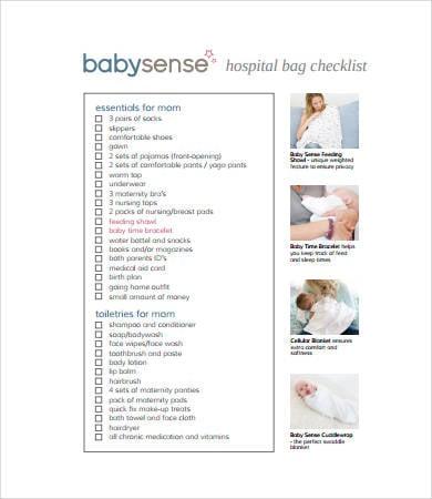 new baby hospital bag checklist