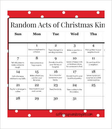 Free Printable Calendar Template for Kids