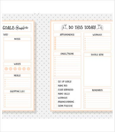 Free Printable Calendar Template   Free Pdf Documents Download