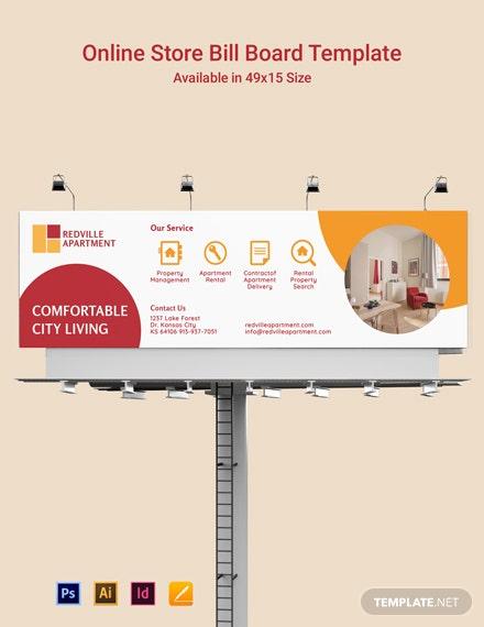 apartment rental billboard template