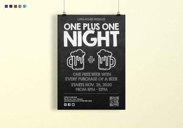 chalkboard poster template in psd format