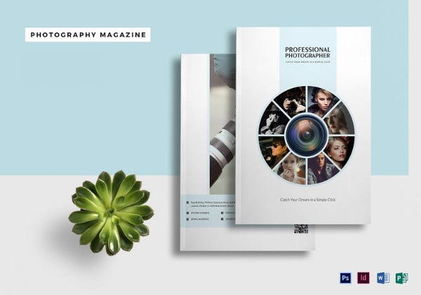 Easy to Edit Photography Magazine Template