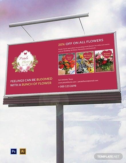 flower shop billboard template