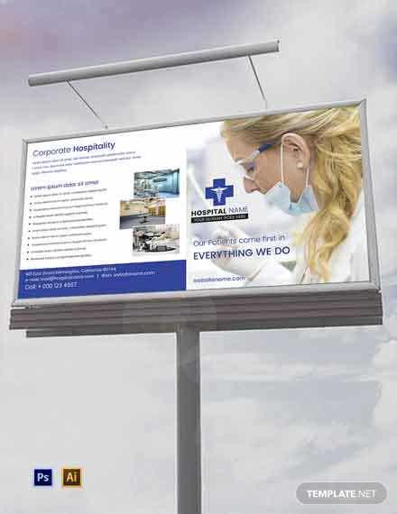 free healthcare billboard template