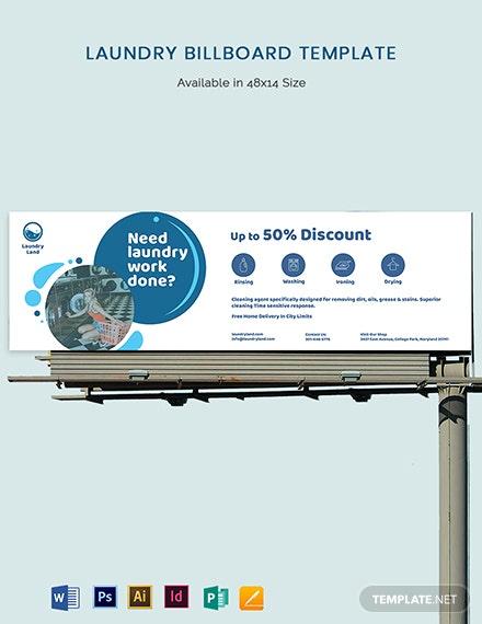 laundry billboard template