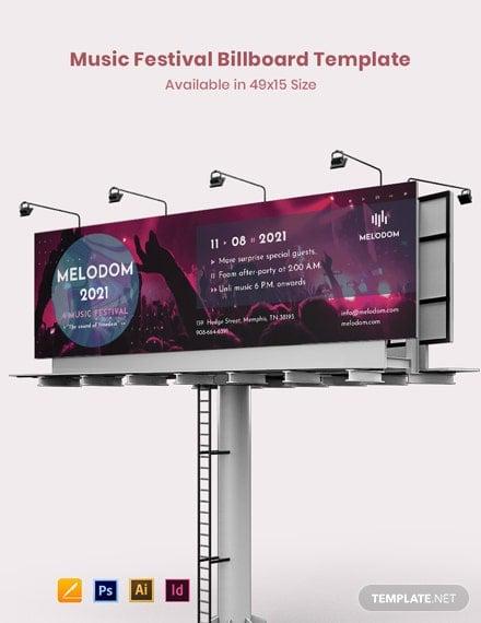 music festival billboard template