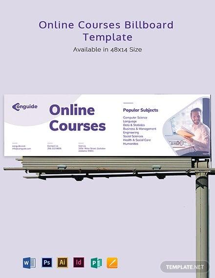 online courses billboard template