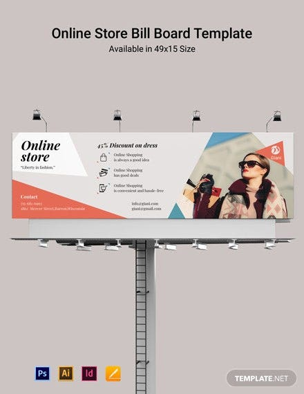 online store billboard template