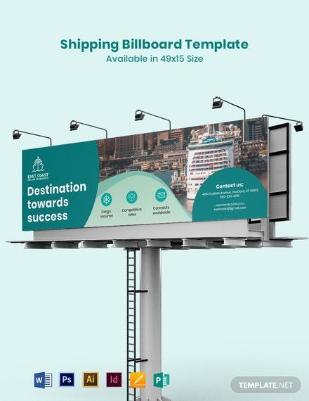 shipping billboard template