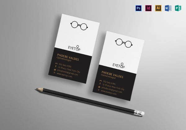 transparent business card template in psd format