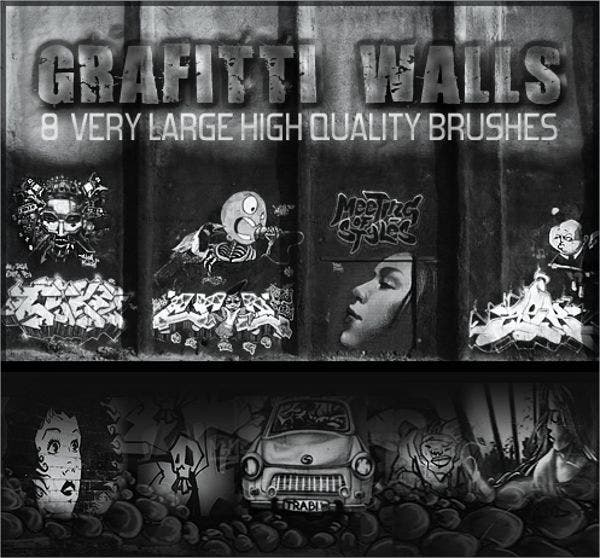 Graffiti Wall Brushes