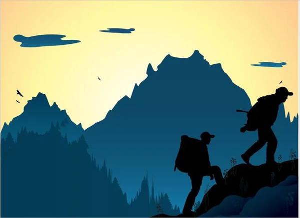 climbing-mountain-silhouette