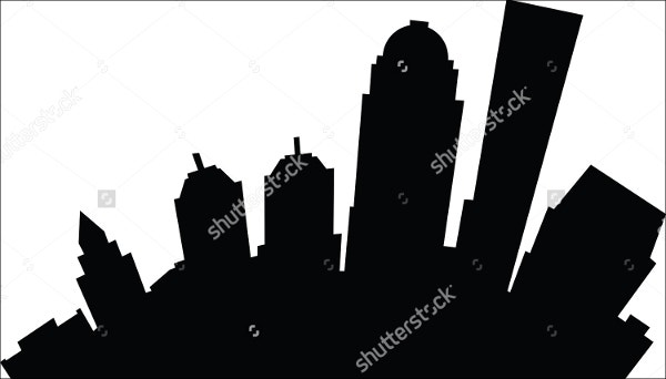 cartoon-city-silhouette