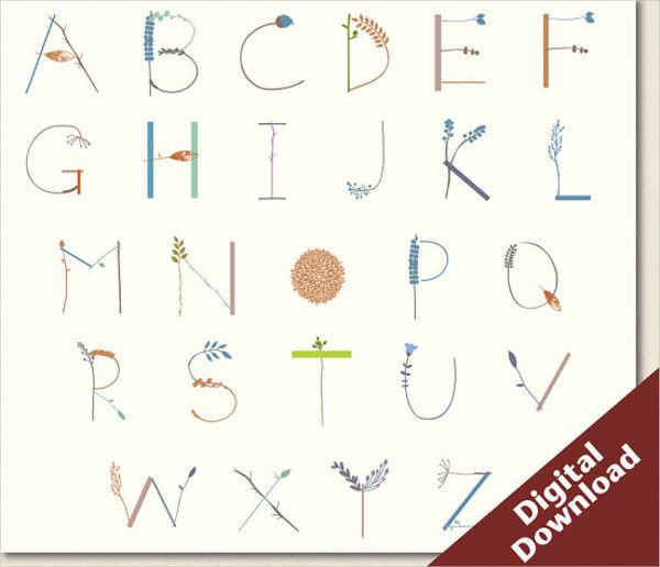 typography alphabet vector