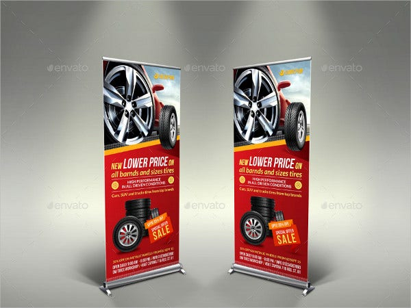 Shop Signage Roll Up Banner Template